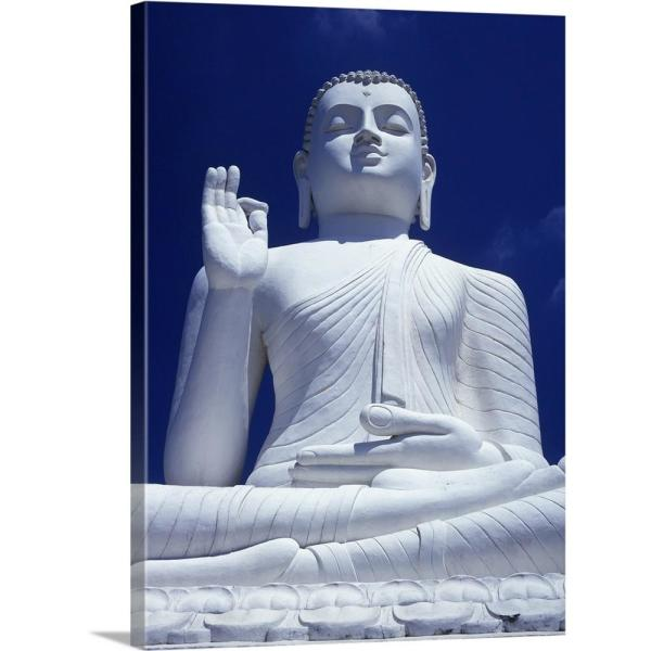 Awe Inspiring Large Seated White Buddha Sri Lanka Asia By Ian Cumming Canvas Wall Art Home Interior And Landscaping Eliaenasavecom
