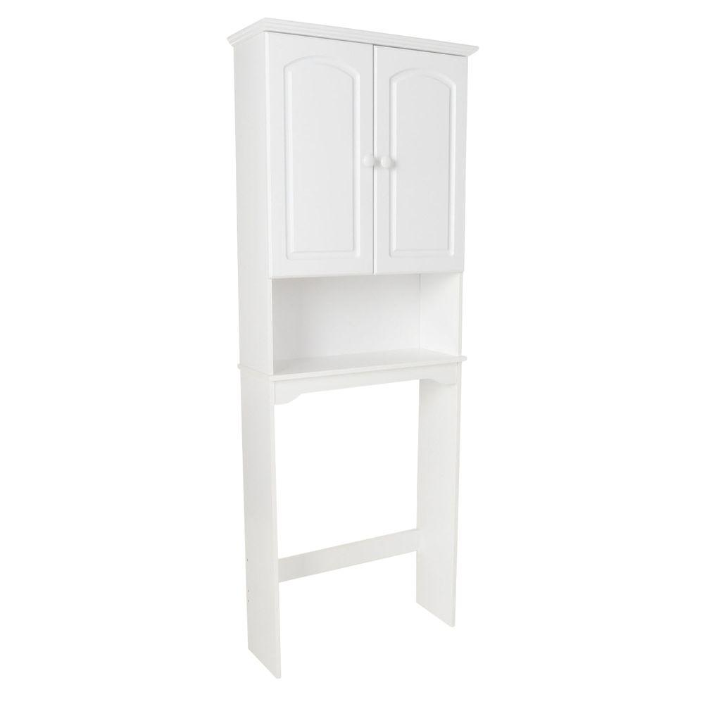 Zenith Hartford 26.25 in. x 69 in. Space Saver in White-DISCONTINUED