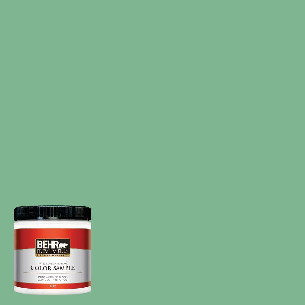 8 oz. #BIC-40 Veiled Chameleon Flat Interior/Exterior Paint and Primer in