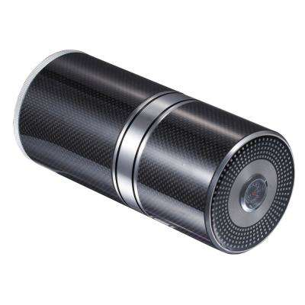 Big Joe Aluminium and Carbon Fiber Cigar Travel Tube with Hygrometer, Black