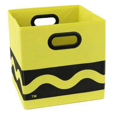 Crayola Serpentine 10.5 in. x 10.5 in. Yellow Folding Storage Bin