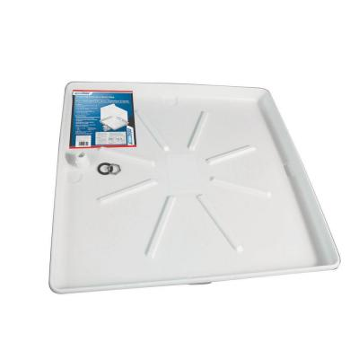 30 in. x 32 in. Washing Machine Drain Pan with PVC Fitting