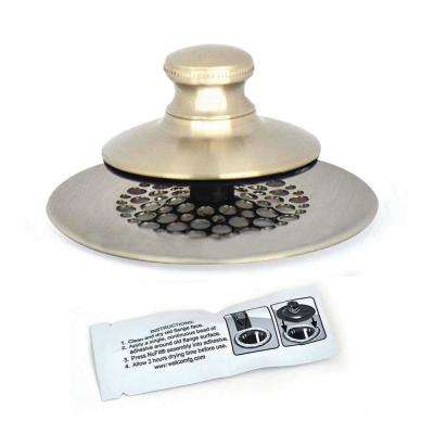 2.875 in. SimpliQuick Push Pull Bathtub Stopper, Grid Strainer and Silicone - Nickel
