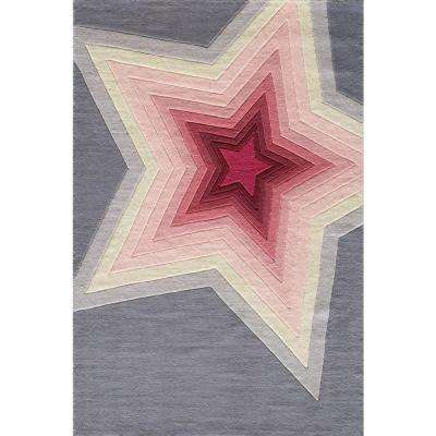 Young Buck Collection Superstar Gray 4 ft. x 6 ft. Indoor Area Rug