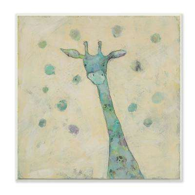 "12 in. x 12 in. ""Giraffe Painterly Doodle"" by Judi Bagnato Printed Wood Wall Art"