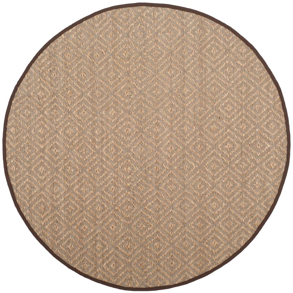 Safavieh Natural Fiber Beige Brown 6 Ft X Round Area Rug