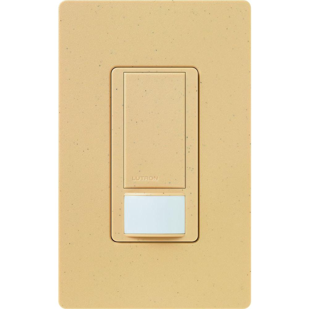 Lutron Maestro 6 Amp Multi-Location Dual Voltage Switch with Occupancy/Vacancy Sensor - Goldstone