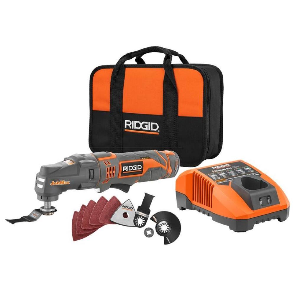 RIDGID JobMax 12-Volt Multi-Tool Starter Kit