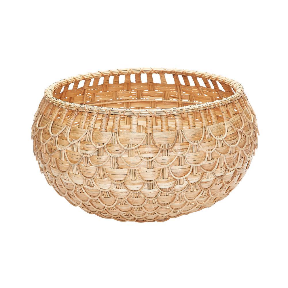 Medium Natural Fish Scale Basket