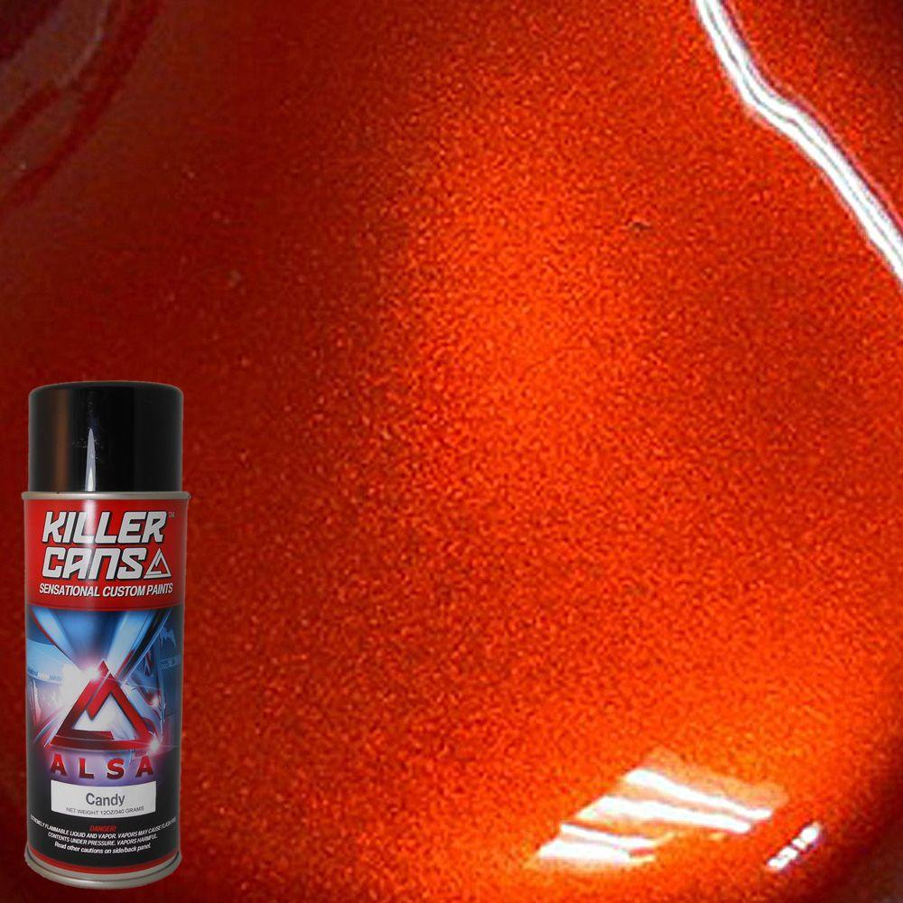 Alsa Refinish 12 Oz Candy Orange Killer Cans Spray Paint Kc Or The Home Depot