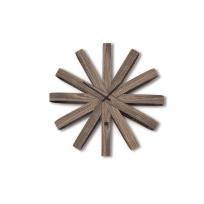 Ribbonwood Wall Clock 20.25In Aged Walnut