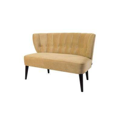 Becca Tufted Settee Gold