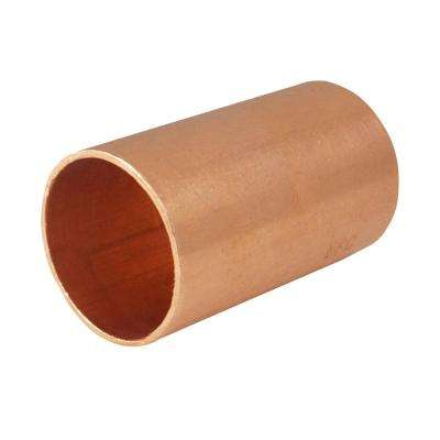 3/4 in. x 3/4 in. Copper Sweat x Sweat Coupling with Stop (30-Pack)
