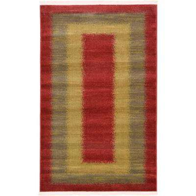 Nomad Red 3 ft. x 5 ft. Area Rug