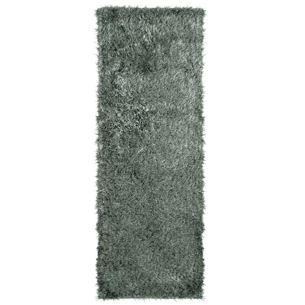 Home Decorators Collection City Sheen Stone Polyester 2 ft. 6 in. x 8 ft. Rug Runner