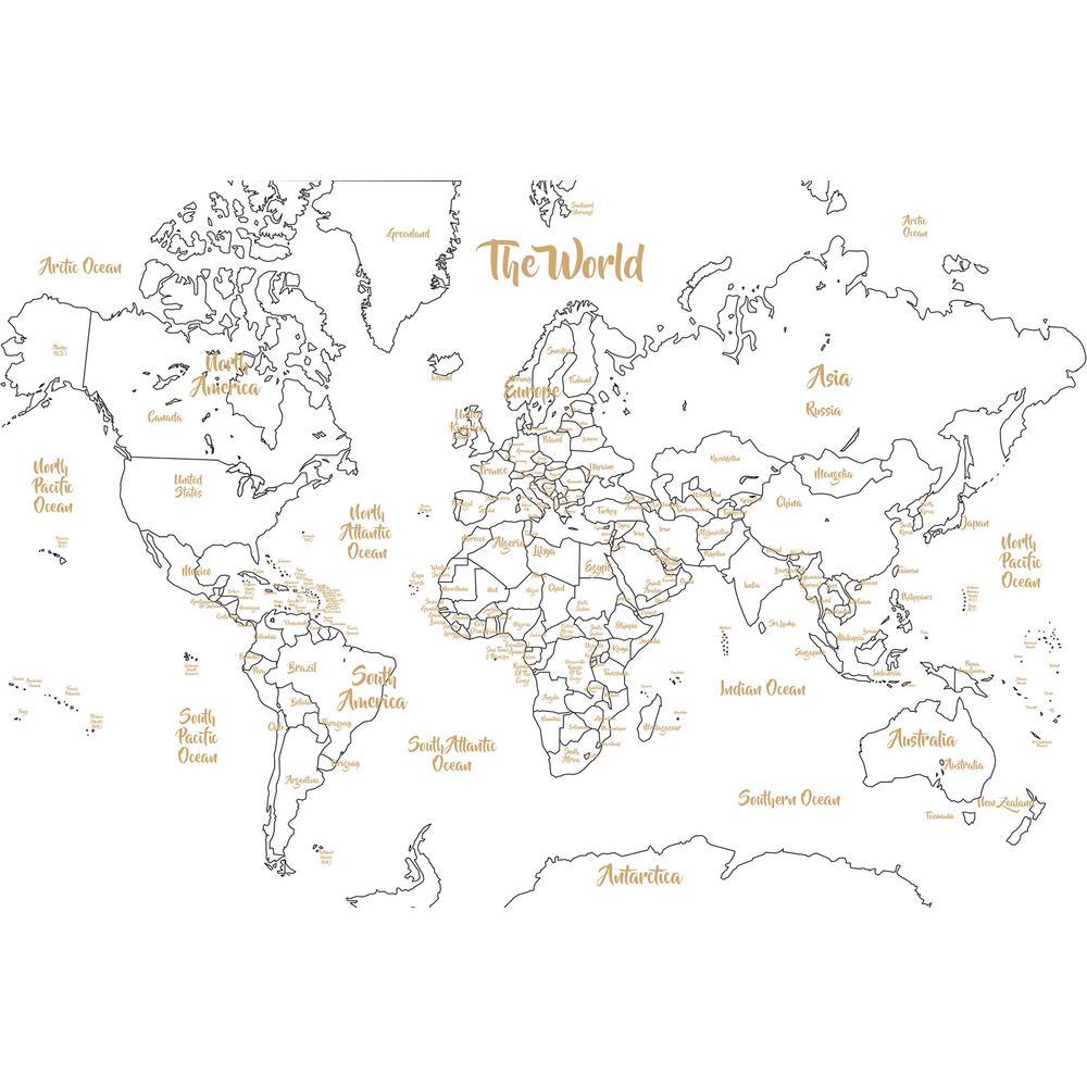 Metallic Glam Dry Erase Map