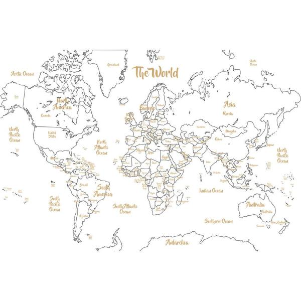 Wall Pops Metallic Glam Dry Erase Map WPE2963 - The Home Depot