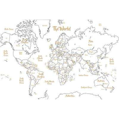 Metallic Glam Dry Erase Map