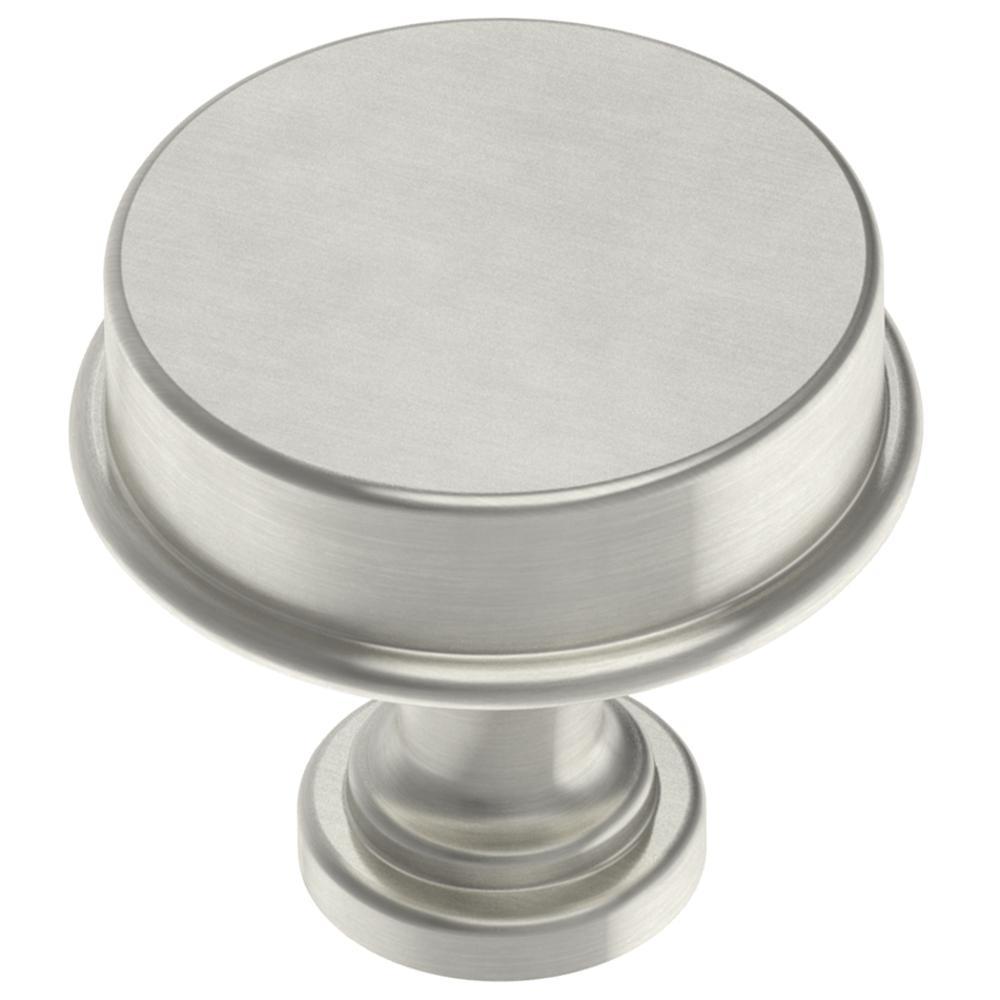 Classic Elegance 1-5/16 in. (33mm) Satin Nickel Round Cabinet Knob