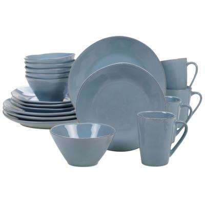 Harmony 16-Piece Teal Dinnerware Set