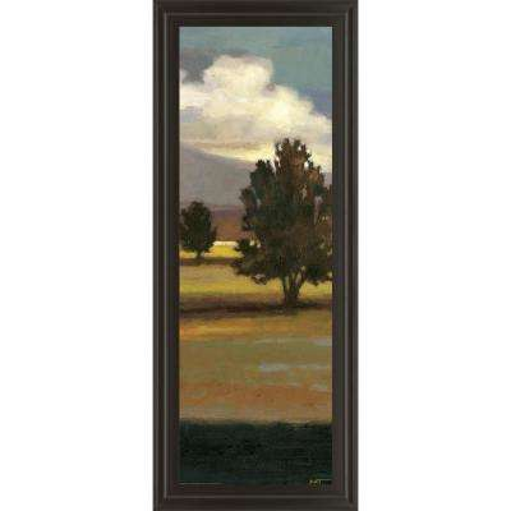 "18 in. x 42 in. ""Mountain Range IV"" by Norman Wyatt, JR. Framed Printed Wall Art"
