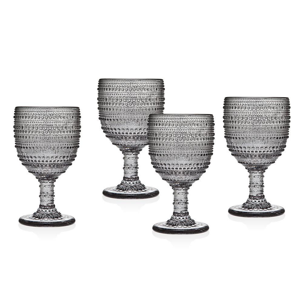 Lumina 9 oz. Smoked Crystal Goblets (Set of 4)