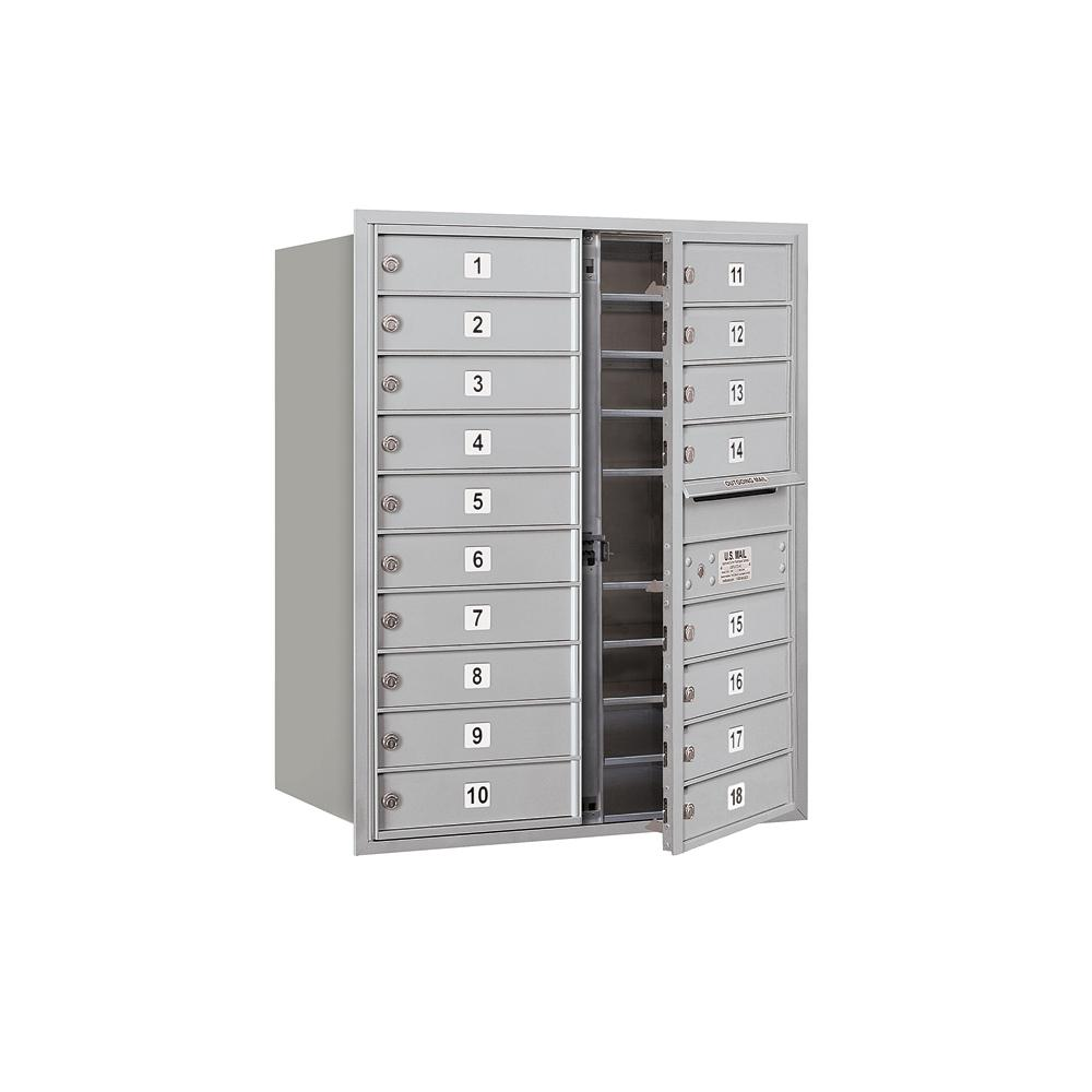 3700 Horizontal Series 18-Compartment Recessed Mount Mailbox