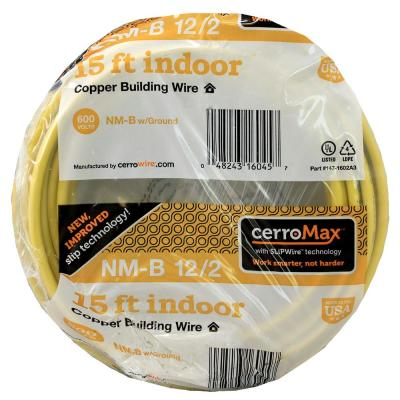 15 ft. 12/2 Yellow NM-B Wire