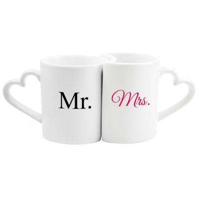 Mr. & Mrs. 10 oz. Ceramic Coffee Mug Set