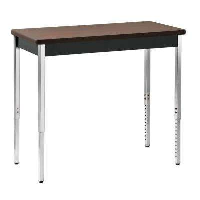 36 in. H x 40 in. W x 20 in. D Heavy Duty Steel Meeting/Activity Table in Black/Walnut