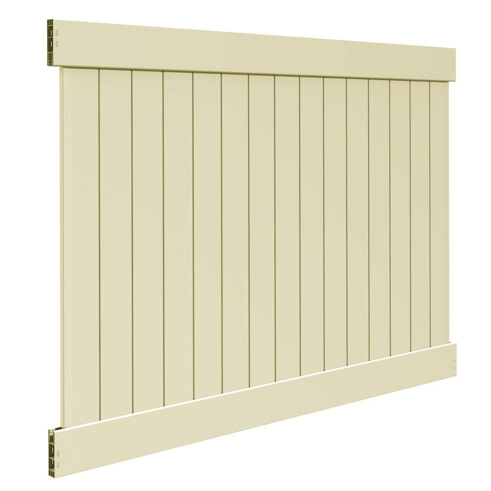 Veranda Linden 6 Ft H X 8 Ft W Sand Vinyl Pro Privacy Fence Panel