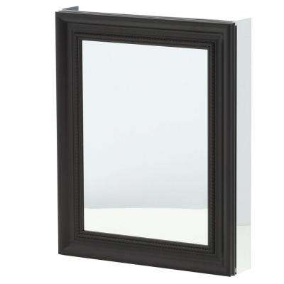 24 in. x 30 in. Framed Recessed or Surface-Mount Bathroom Medicine Cabinet in Espresso
