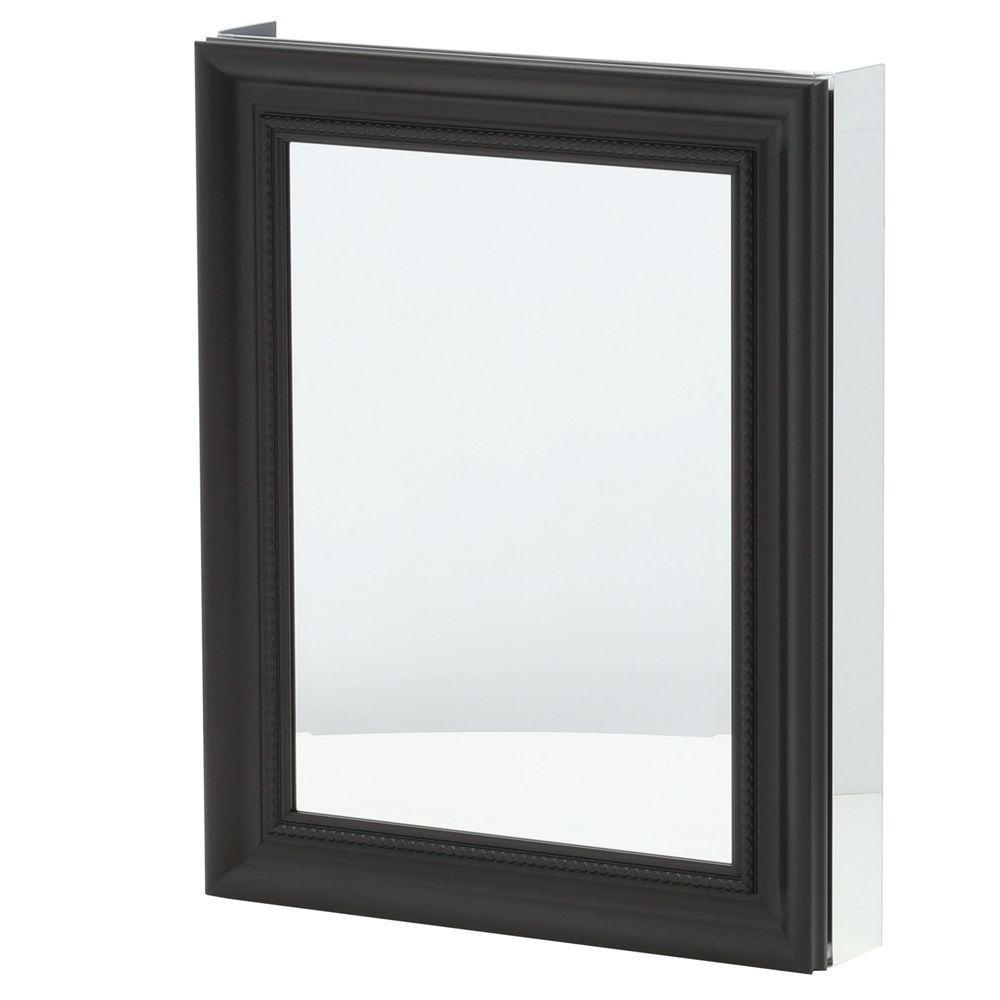 Pegasus 24 in. x 30 in. Framed Recessed or Surface-Mount Bathroom Medicine Cabinet in Espresso