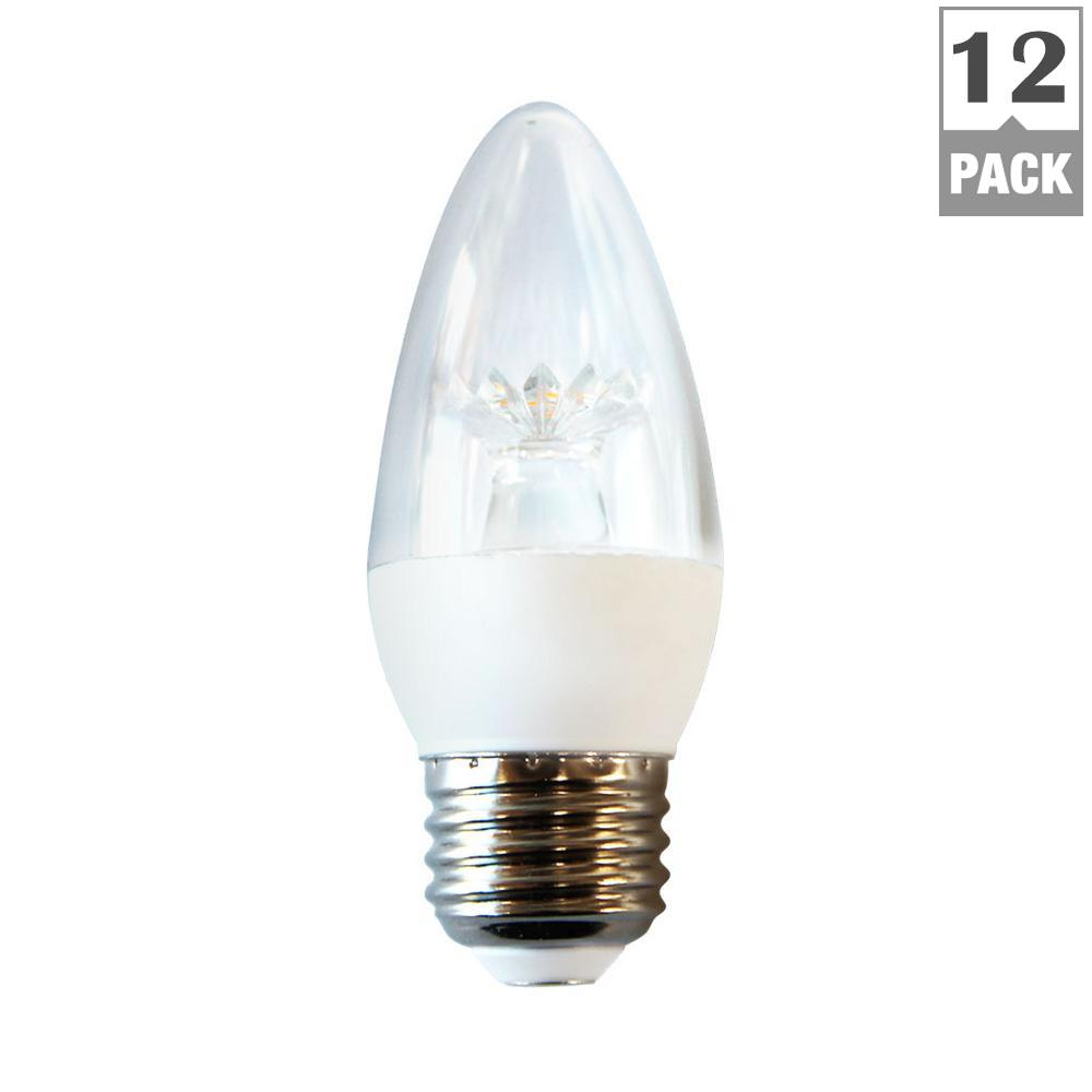 Ecosmart 40w Equivalent Soft White B11 Dimmable Filament: EcoSmart 25-Watt Equivalent B11 LED Light Bulb, Soft White
