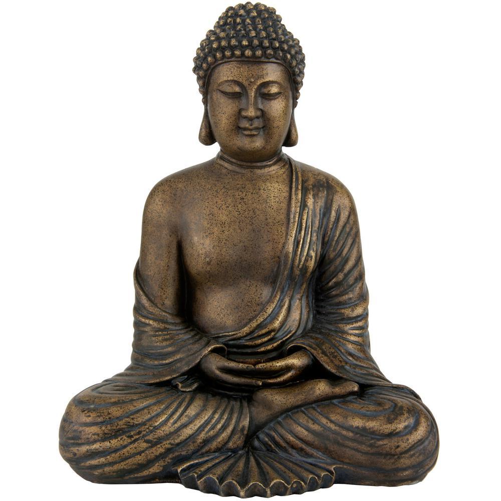 Oriental Furniture 12 in. Japanese Meditating Buddha Decorative Statue