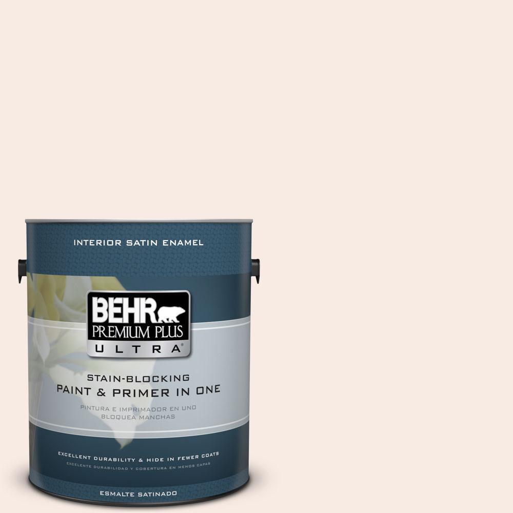 BEHR Premium Plus Ultra 1-gal. #210E-1 Bella Pink Satin Enamel Interior Paint