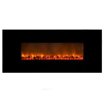Mood setter 54 in. Wall-Mount Electric Fireplace in Black