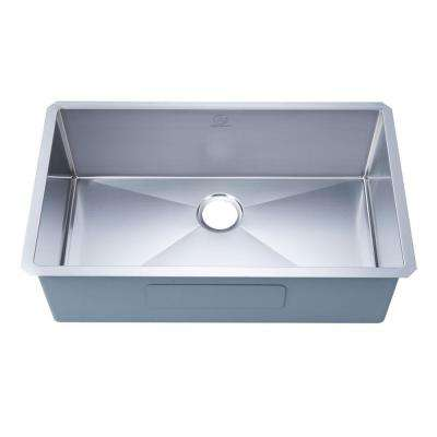 NationalWare Undermount 18-Gauge Stainless Steel 32 in. Single Bowl Kitchen Sink in Stainless Steel