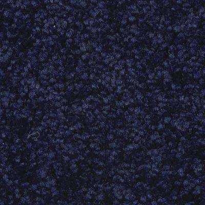 Carpet Sample - Astoria - Color Classic Navy Texture 8 in. x 8 in.