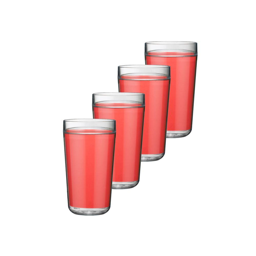 Kraftware 24 oz. Insulated Drinkware in Red (Set of 4)-DISCONTINUED