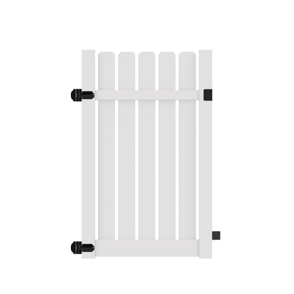 veranda sacramento 4 ft x 6 ft white vinyl walk fence gate kit 73024126 the home depot. Black Bedroom Furniture Sets. Home Design Ideas