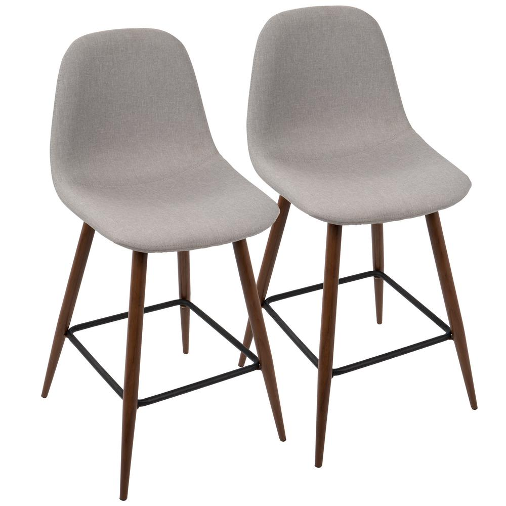 stool fabric leather nailheads charcoal grey in r stools with gray barstools counter height