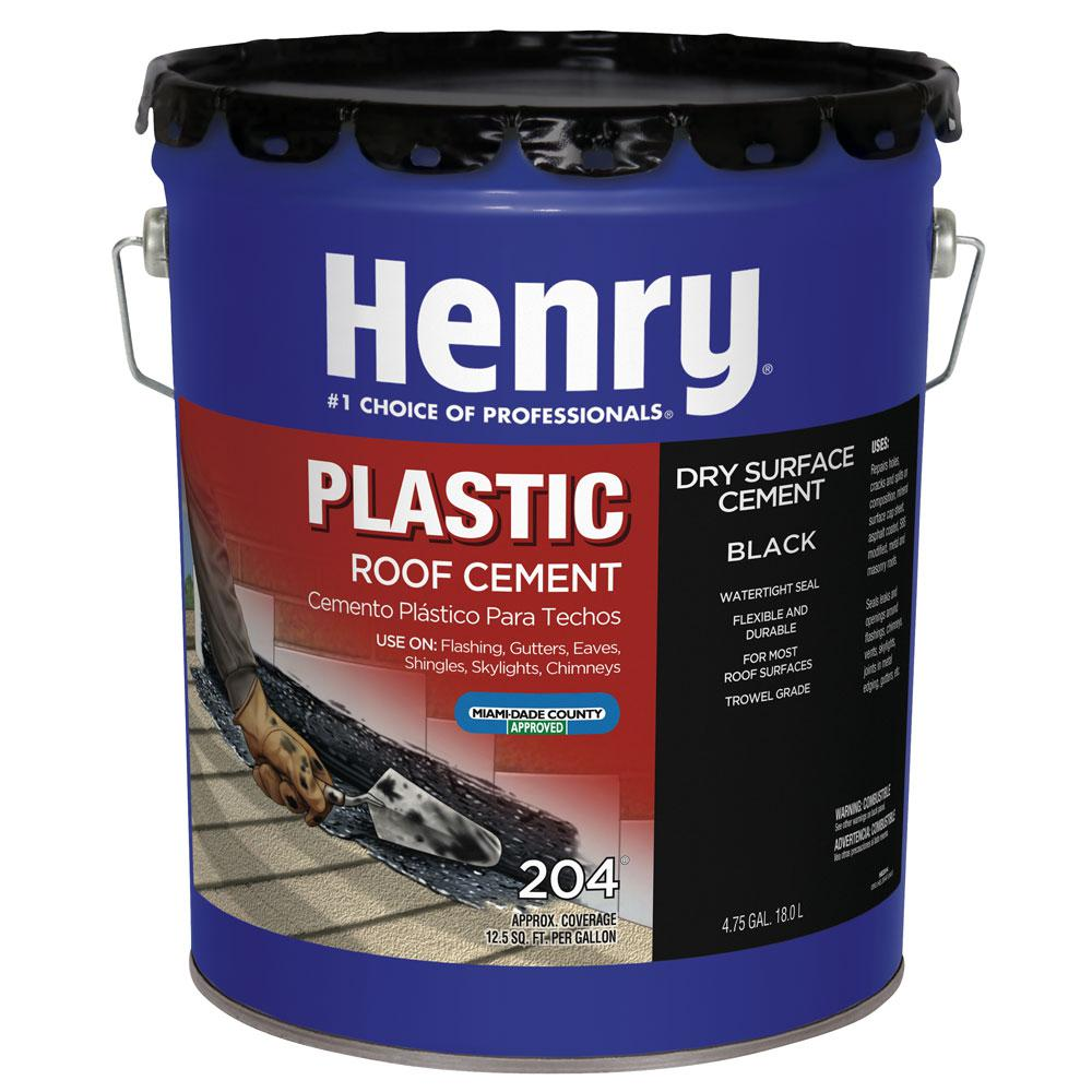 Henry 4 75 Gal 204 Plastic Roof Coating Cement He204571