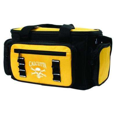 Black and Yellow Tackle Bag with 4 Utility Boxes