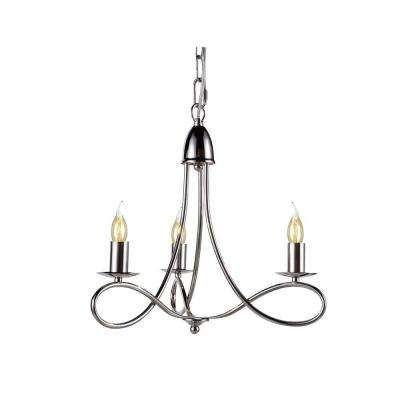 Lyndon 3-Light Polished Nickel Pendant Lamp
