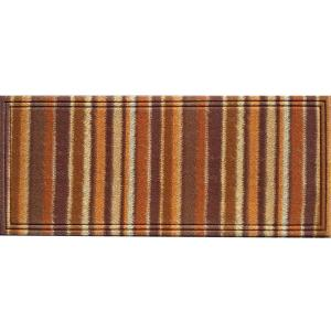 Apache Mills Naturelles Chindi Orange and Brown 20 inch x 47 inch Door Mat by Apache Mills