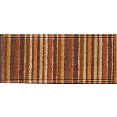 Naturelles Chindi Orange and Brown 20 in. x 47 in. Door Mat