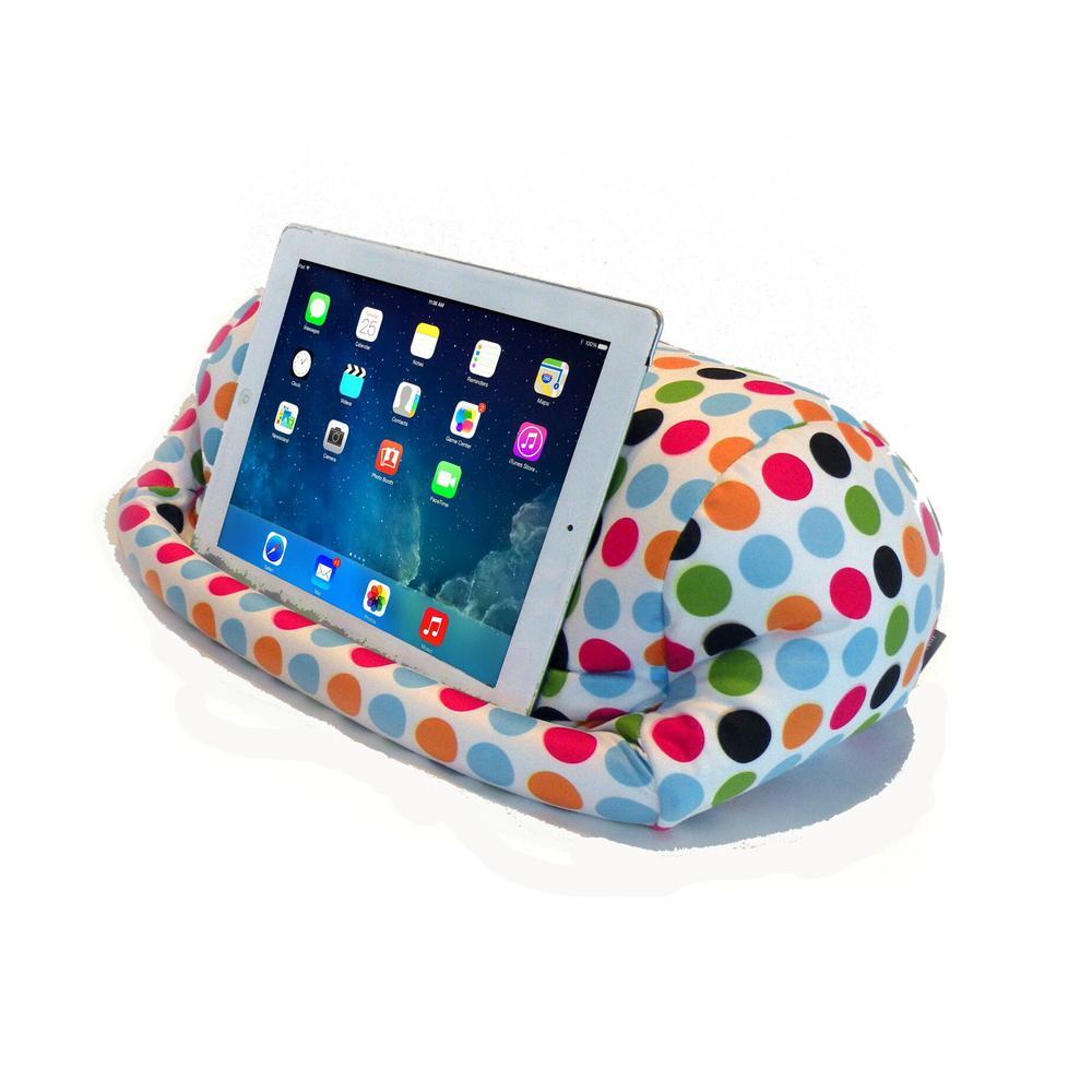 Universal Beanbag Lap Stand for Tablets, Polka Dot
