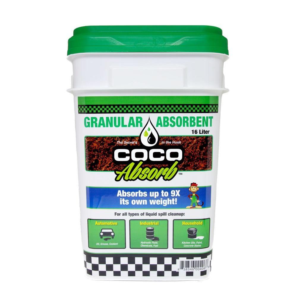 16 l Organic Spill Absorbent Bucket Loose Granular