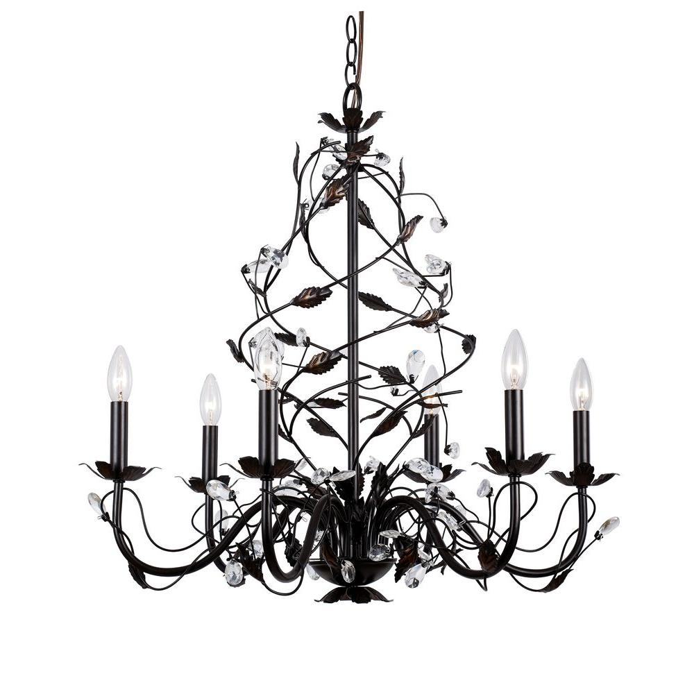 oil rubbed bronze chandelier hampton bay 6 light rubbed bronze chandelier hd 236752 28615